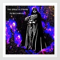 vader Art Prints featuring Vader  by Saundra Myles