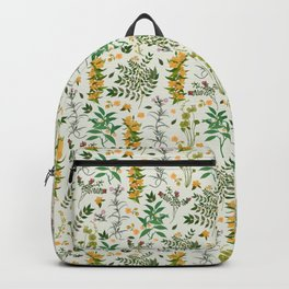 Vintage Botanicals on Beige Backpack