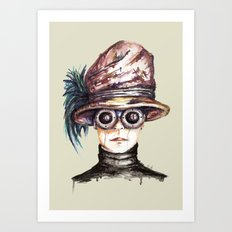 Girl with Goggles Art Print