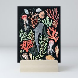 Whale shark Mini Art Print