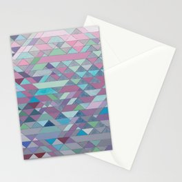 Triangle Pattern no.3 Violet Stationery Cards