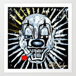 Carnival Clown Art Print
