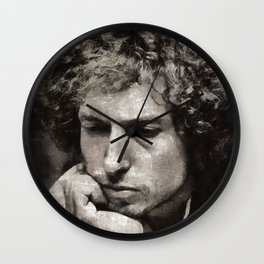 Bob Dylan by Mary Bassett Wall Clock