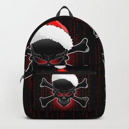 Christmas Santa Black Skull Backpack