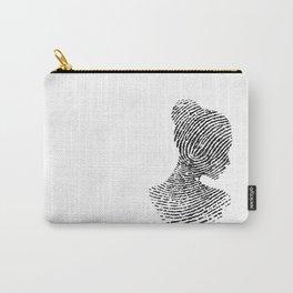 Fingerprint Silhouette Portrait No.1 Carry-All Pouch