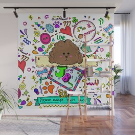 JB the Chocolate Poodle Wall Mural