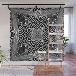 Black & White Tribal Symmetry Wall Mural