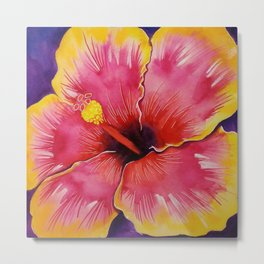 Hibiscus yellow Metal Print
