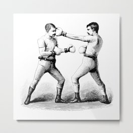 Men with Mustaches Metal Print