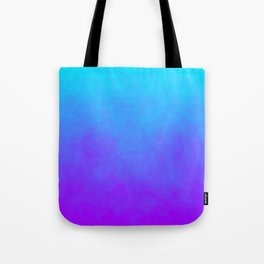 Blue and Purple Ombre - Swirly Tote Bag