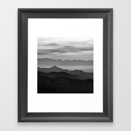 Mountains mist. BN Framed Art Print