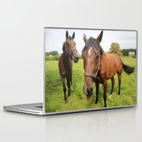 horses Laptop & iPad Skins featuring horses by Falko Follert Art-FF77