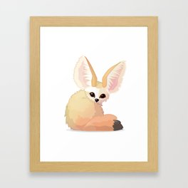 cute fennec foxes. Vector graphic character Framed Art Print