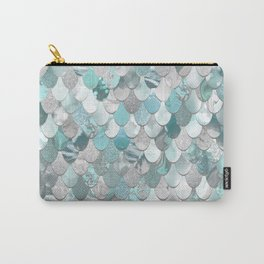 Mermaid Aqua and Grey Carry-All Pouch