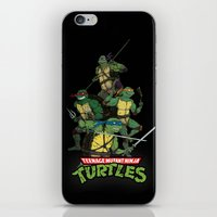 tmnt iPhone & iPod Skins featuring TMNT by Neal Julian