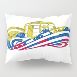 Colombian Sombrero Vueltiao in Colombian Flag Colors Pillow Sham