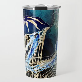 Metallic Jellyfish III Travel Mug