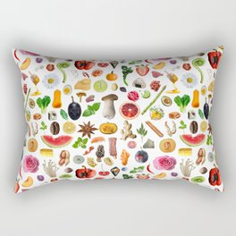 Food Doodles Rectangular Pillow