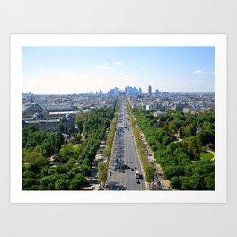 Avenue des Champs-Élysées Art Print