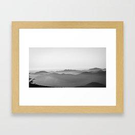 fog, lumps, and rays  Framed Art Print