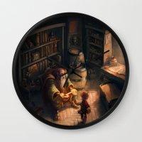 sword Wall Clocks featuring Cursed Sword by Dani Diez