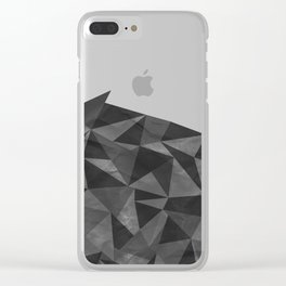 Dirty Geo Clear iPhone Case