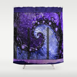Nocturne of Scorpio -- Fractal Astrology Shower Curtain