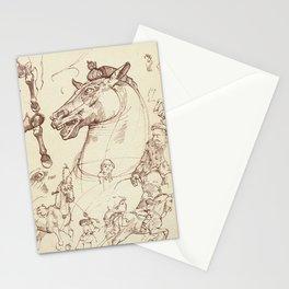 Leonardo Da Vinci, The Four Horses of Apollo Stationery Cards