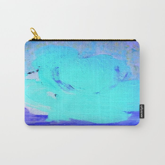 Neon Winter Rose, Abstract In Nature, Ice Blue Carry-All Pouch