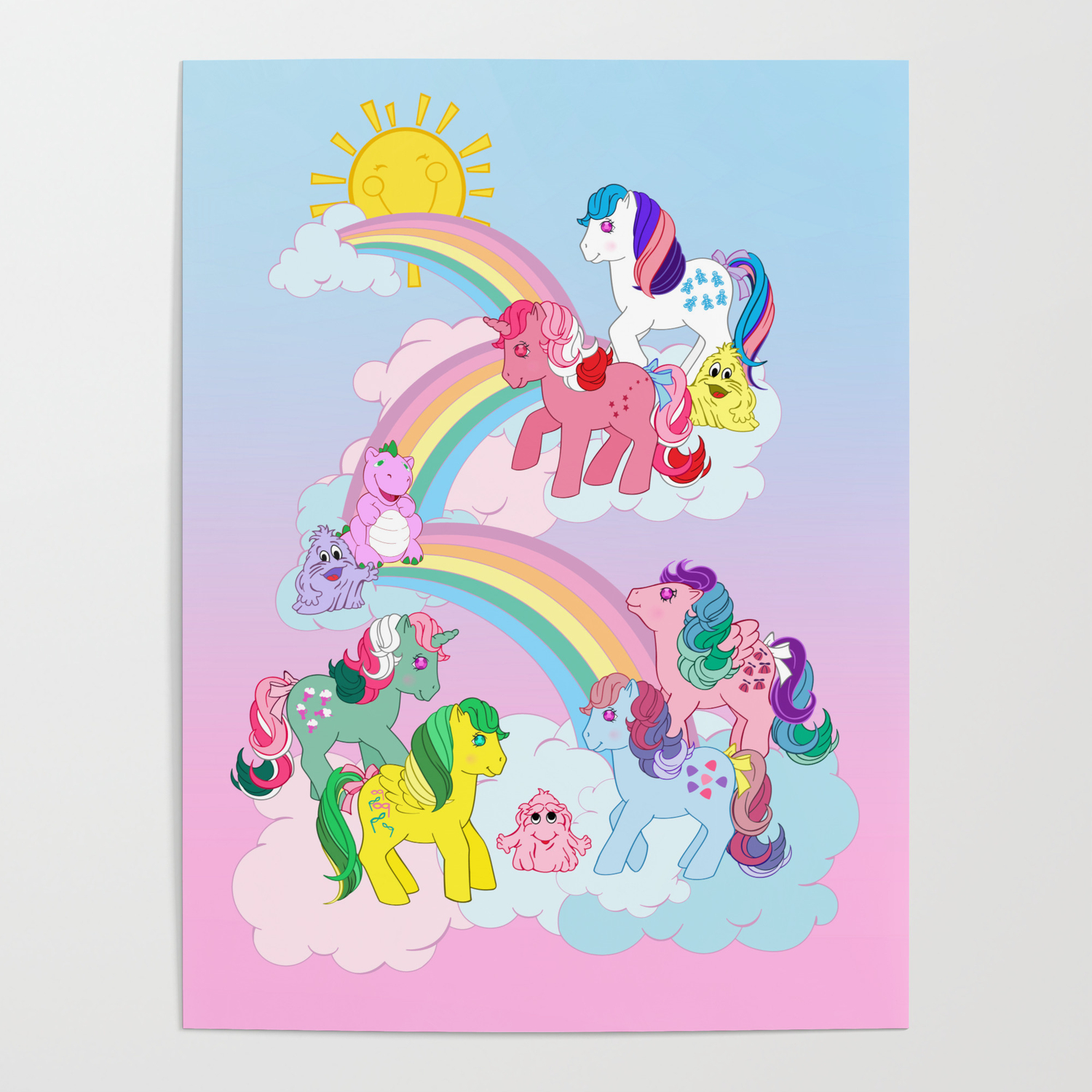 - G1 My Little Pony Twinkle Eye Ponies Poster By Gertee Society6