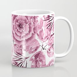 Dusty pink flowers. Coffee Mug