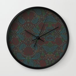 crazy patterns Wall Clock