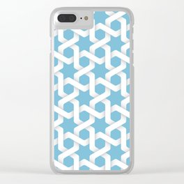 Hexagonal and stars pattern Clear iPhone Case
