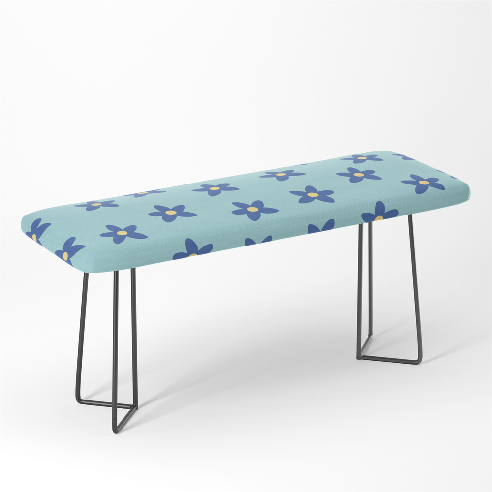 Blue_Turquoise_Floral_Pattern_Bench_by_peladesign
