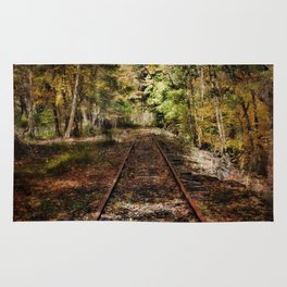 Forward Along the Railroad Tracks Rug