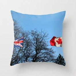 British/Canadian Throw Pillow