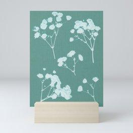 Pressed green flower Mini Art Print