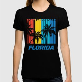 Retro Fort Lauderdale Florida Palm Trees Vacation T-shirt