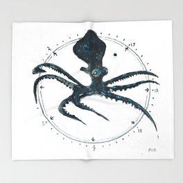 Cephalopod Prime Throw Blanket