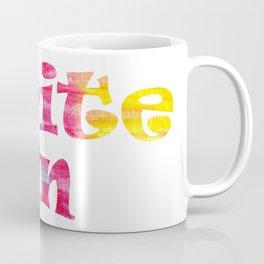 Write On (Tie Dye) Coffee Mug