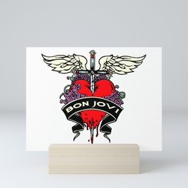 bon jovi wings logo tour 2019 2020 mentah Mini Art Print