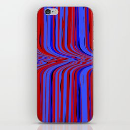 red and blue flowing iPhone Skin