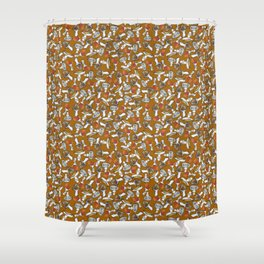 All the Mushrooms in the Forest Shower Curtain