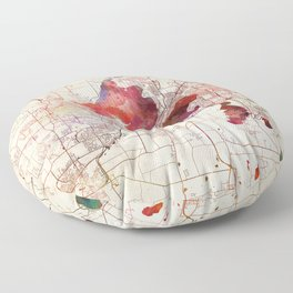 Madison map Floor Pillow
