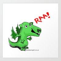 Ziggy the Dragon Art Print