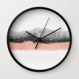 rose gold and grey watercolor ombre Wall Clock