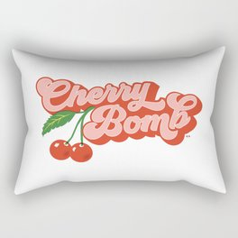 Cherry Bomb Rectangular Pillow