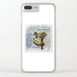 Don't worry, God cares for the birds, bible verses Clear iPhone Case