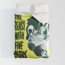 The Beast with five fingers, vintage horror movie poster Comforters