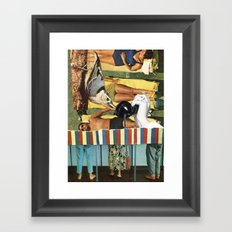 People Will Talk Framed Art Print